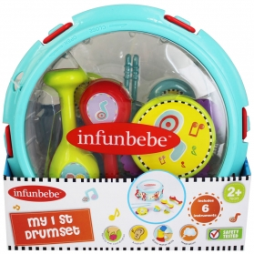 infunbebe My 1st Drum Kit Set Kids Musical Instrument (6 pieces set)