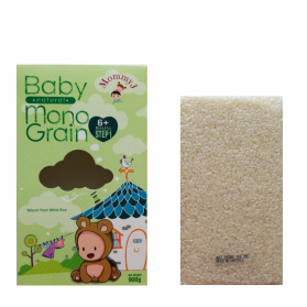 MommyJ Step 1 - Baby Natural Mono-Grain : Organically Grown Pearl White Rice 天然珍珠白米 (6m+)