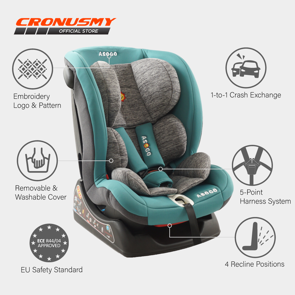 Asogo Baby Car Seat (0-4 Years Old) 4