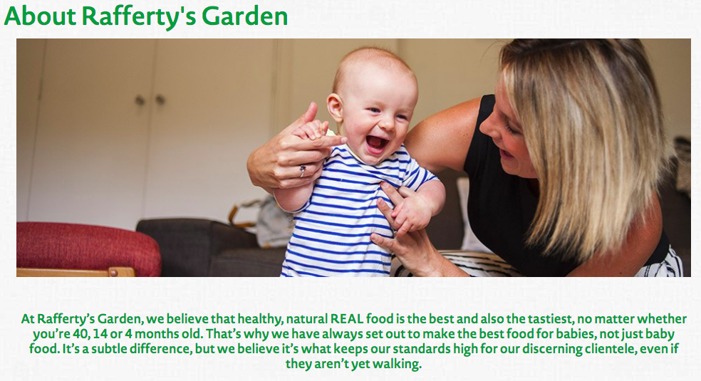 Rafferty's Garden Baby Organic food