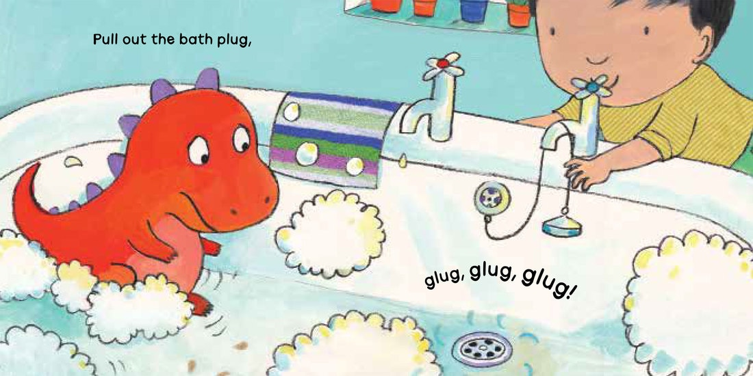A board book all about bath time byt Jane Clarke and Georgie Birkett