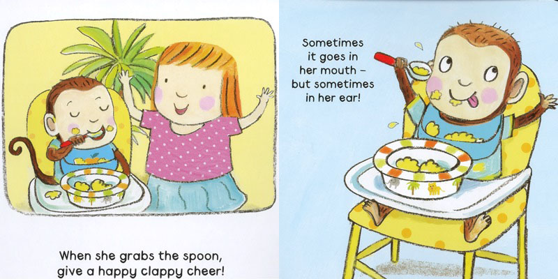 how to feed your cheeky monkey board book