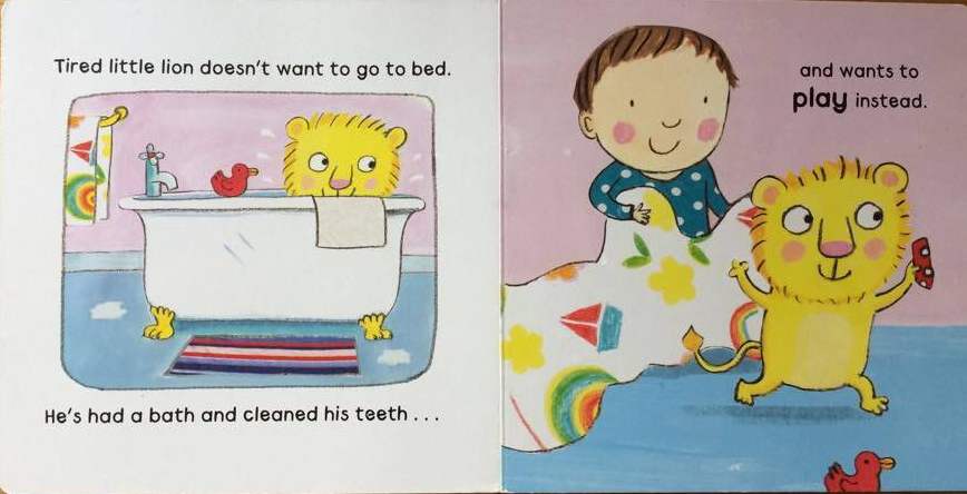 how to tuck in your sleepy lion board book