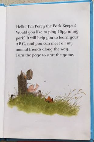 percy the park keeper learn abc nick butterworth