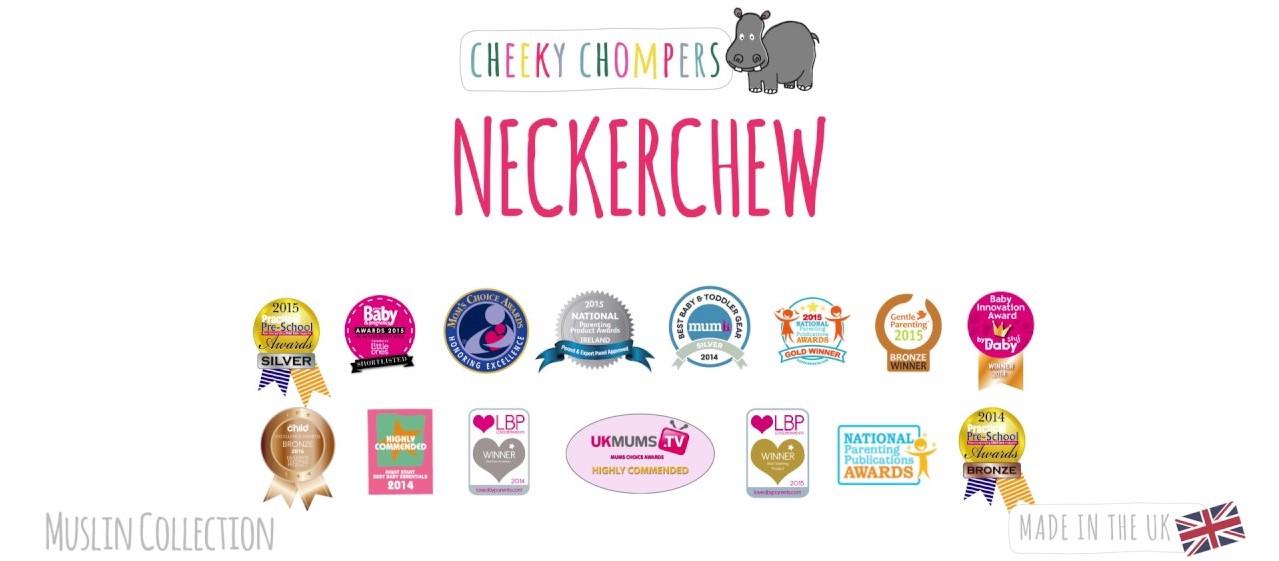 cheeky chompers neckerchew 2 in 1 baby bib and teether 宝宝咬咬兜围兜固齿器多用途围巾
