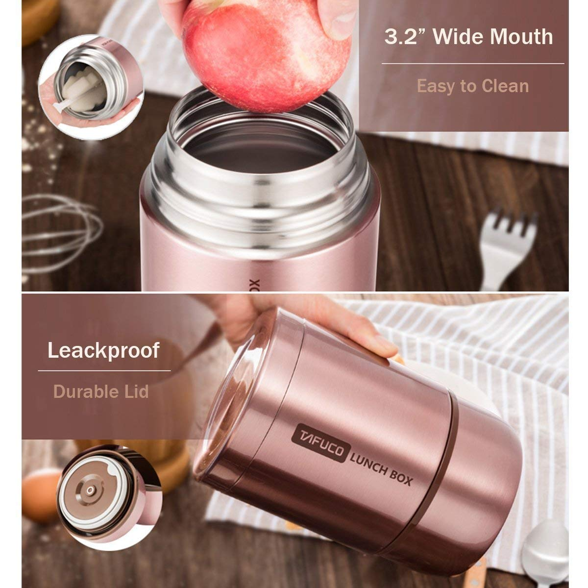Large Stainless Steel Food Flask