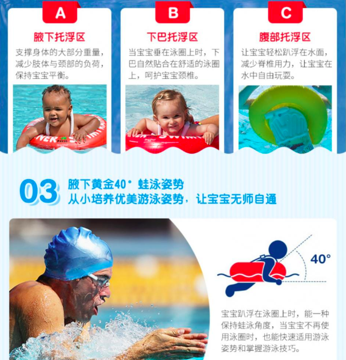 freds swim academy baby swim trainer swim float 宝宝婴儿幼儿安全游泳圈