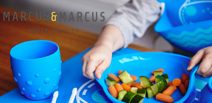marcus and marcus silicone suction bowl, divided plate, children self feeding baby lead weaning tableware 硅胶宝宝餐具