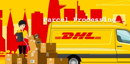 just4bb process your parcel and send with dhl