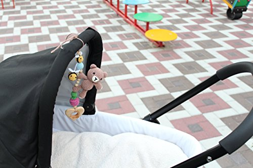 baby carseat and stroller activity toys