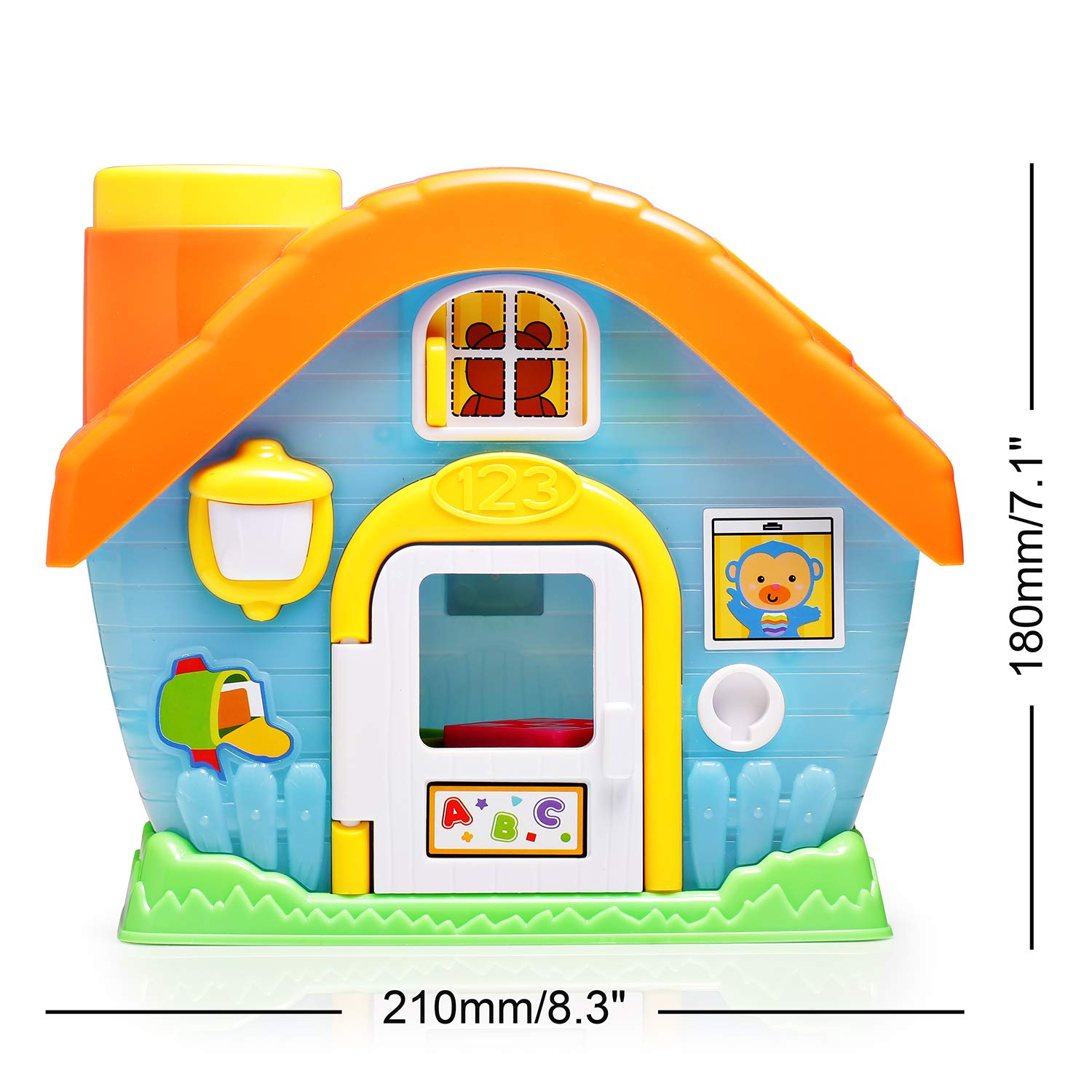 infunbebe baby toddler house toys shape sorting and coloring sorting playset toys