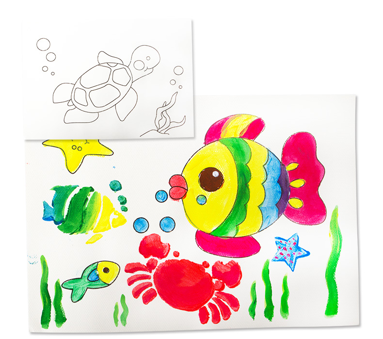 joan miro jar melo beginner finger paint and drawing paper with art tool set