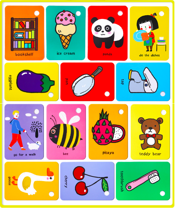 joan miro jar melo baby flash cards 儿童英语卡片识字