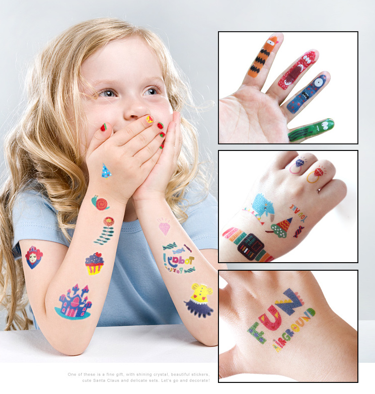 Joan Miro Tattoo & Nail Stickers for Boys and girls children safety tattoo body stickers