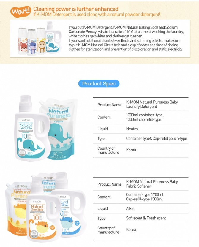 k-mom natural baby laundry detergent