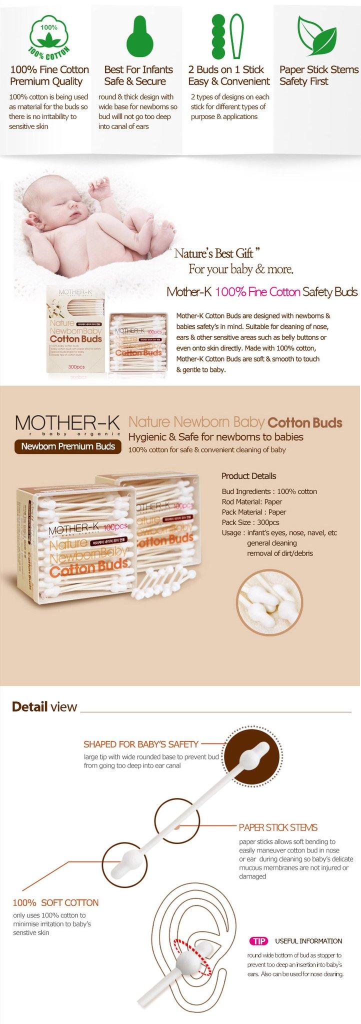 mother-k safe cotton buds
