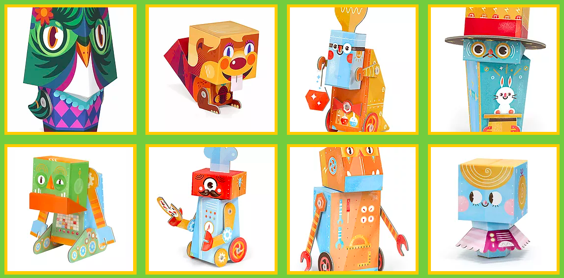 krooom creativity development playset fold my robot