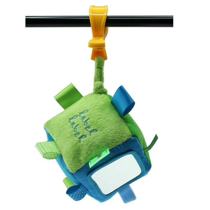 label label baby soft stroller toys with colorful label lable and hanging clip  宝宝柔软可爱摸摸推车玩具