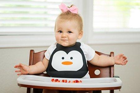 silicone stylish baby bib with crumb catcher