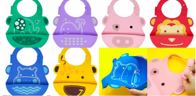 marcus and marcus ultra light soft silicone baby bib