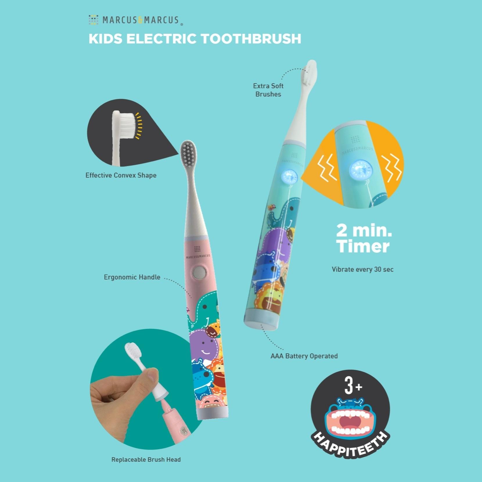marcus and marcus kids sonic electronic toothbrush 儿童音波电动牙刷
