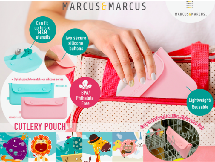marcus and marcus cutlery pouch store utensils on the go 便æºå¤åºé¤å·æ¶çº³è¢