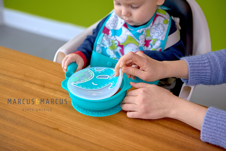 marcus and marcus silicone suction bowl with lid 硅胶吸盘碗带盖