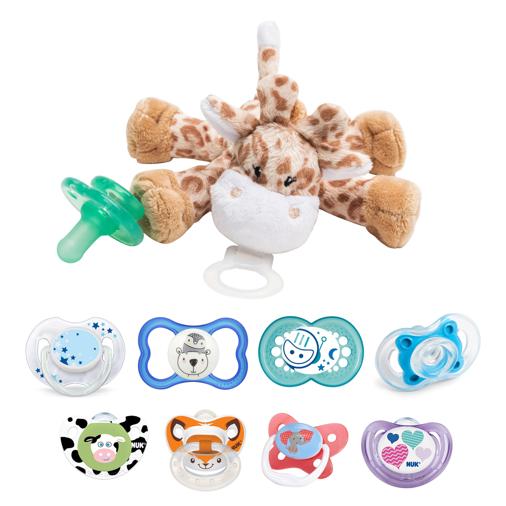 pacifier holders with soft toys comforter