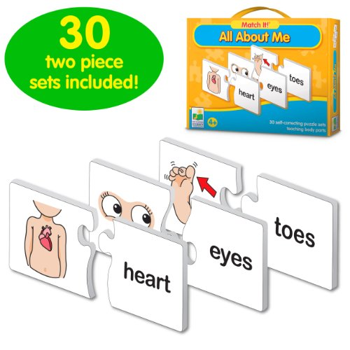 30 two-piece puzzle cards teach parts of the body