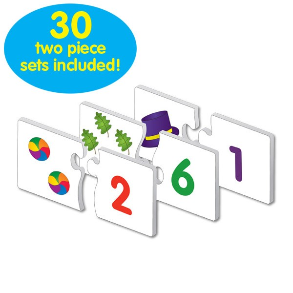 30 self-correcting puzzle sets teaching numbers 1 through 20