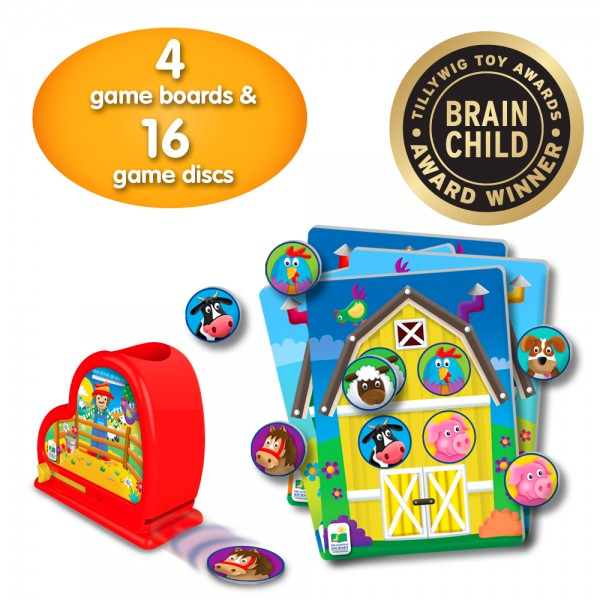 farm animal theme cards and dispenser toy awards winner
