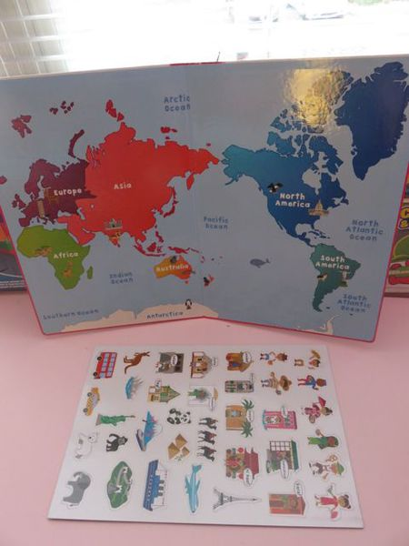 tiger tribe magnetic play learn about travel the worl 宝宝磁铁贴纸认识环游世界