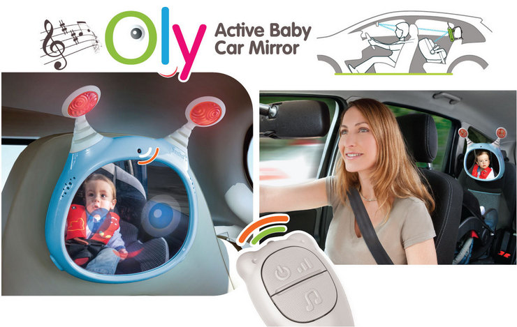 benbat oly car mirror with melody and calming music 宝宝旅途安抚音乐