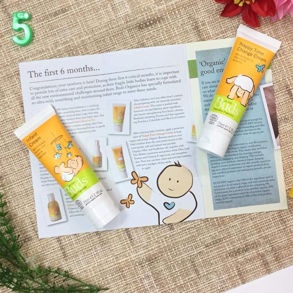 buds baby organic newborn infant everyday lotion and nappy change cream 初生婴儿宝宝护肤及护臀膏