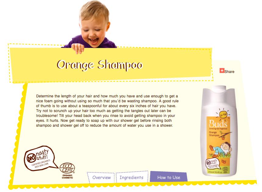 buds organic kids children shower bath shampoo hair wash orange scent 儿童有机洗澡冲凉洗发水清洁剂