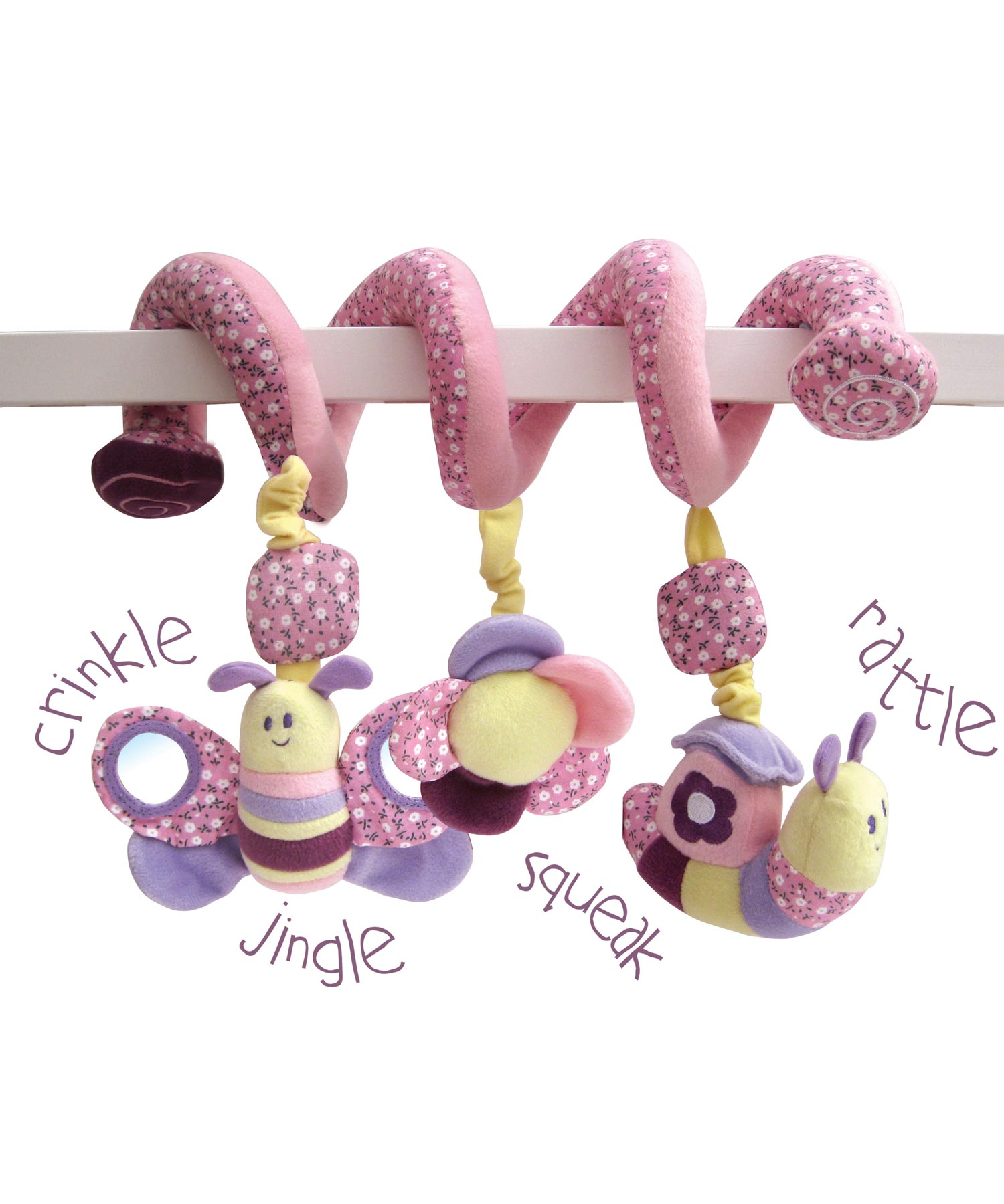 soft spiral cot toys