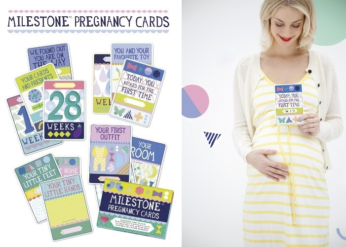 milestone pregnancy card
