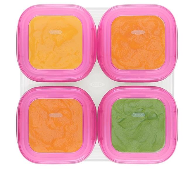 baby blocks baby puree freezer storage containers