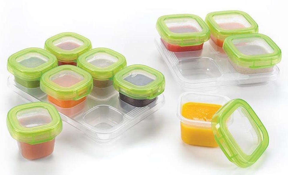 baby block puree storage container