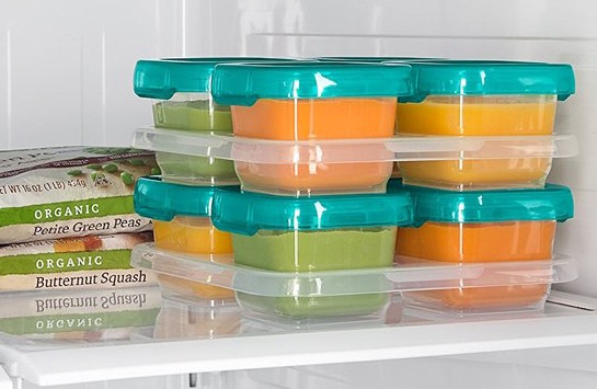 baby blocks baby puree freeser storage containers large portion