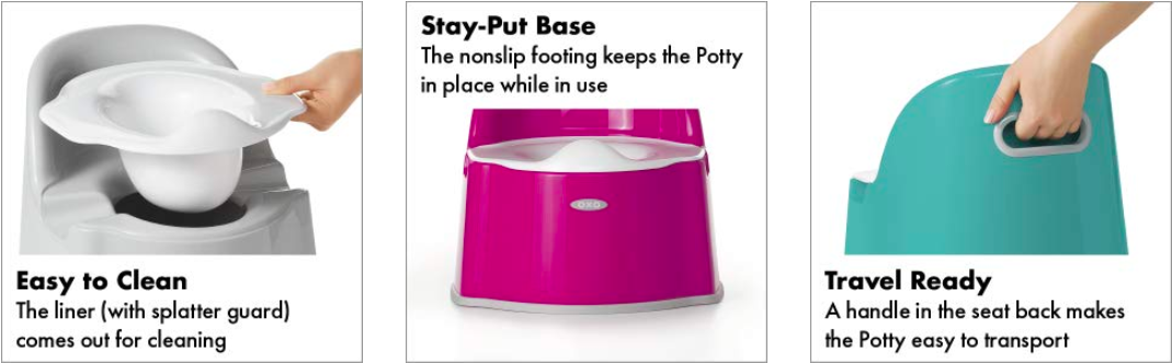 oxo tot potty chair for toddler potty training