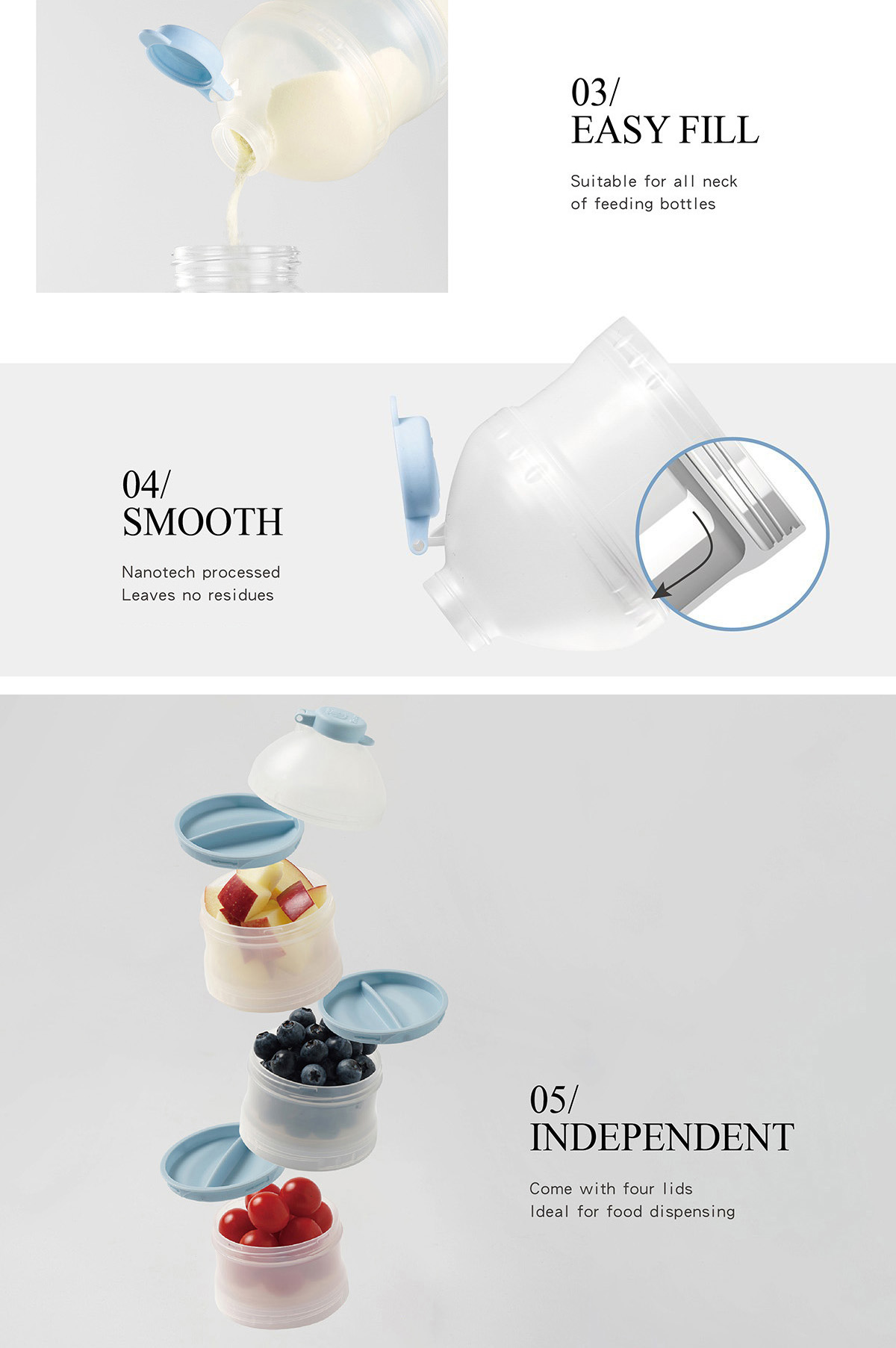 simba ultra smooth formula milk powder container dispenser 小狮王辛巴分格奶粉罐