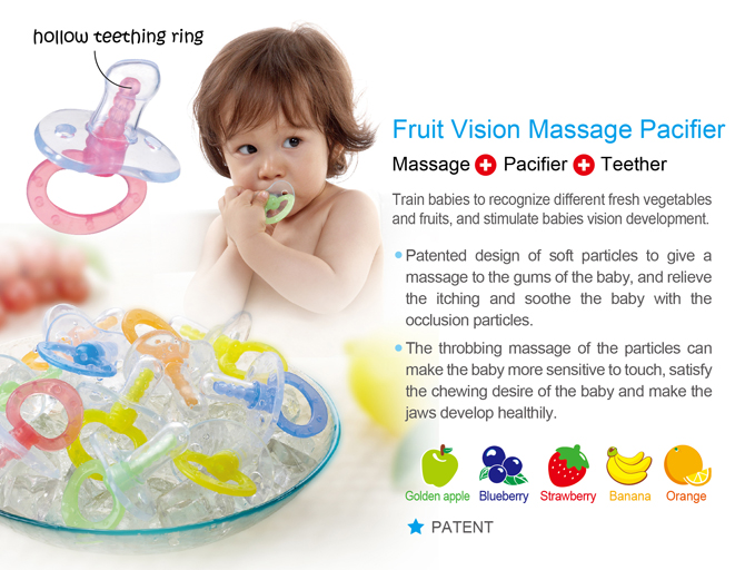 baby teething massage pacifier