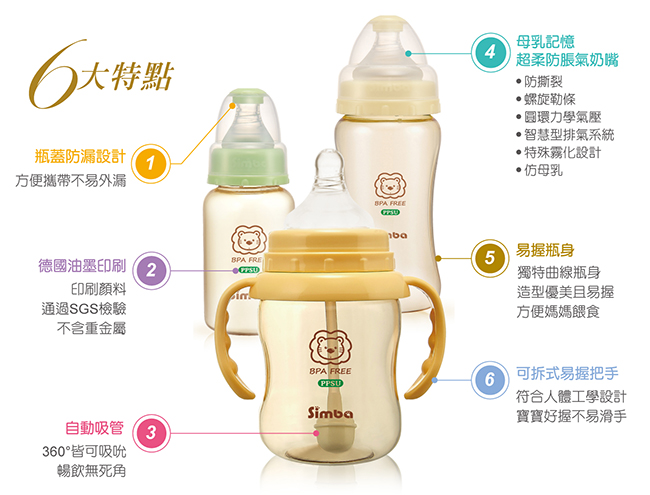 simba 小狮王辛巴 ppsu 奶瓶