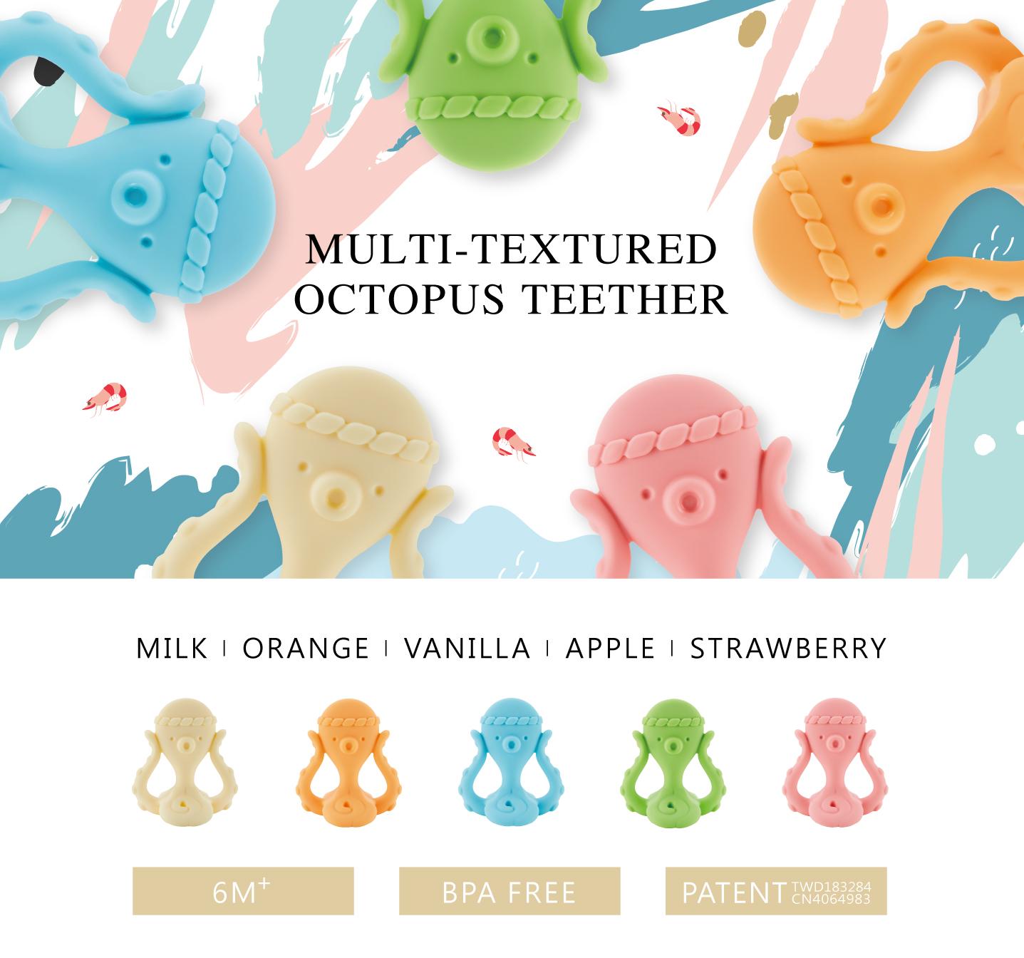 simba octopus silicone teether