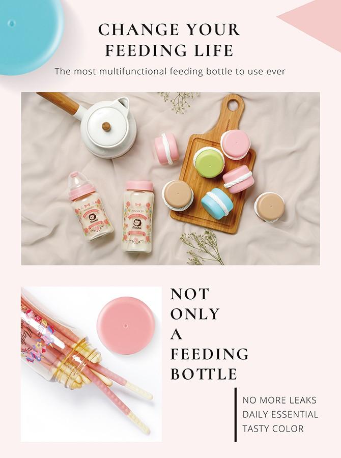 simba bottles wide neck macaron bottle lid multifunction bottle storage lid 小狮王辛巴奶瓶马卡龙万用盖