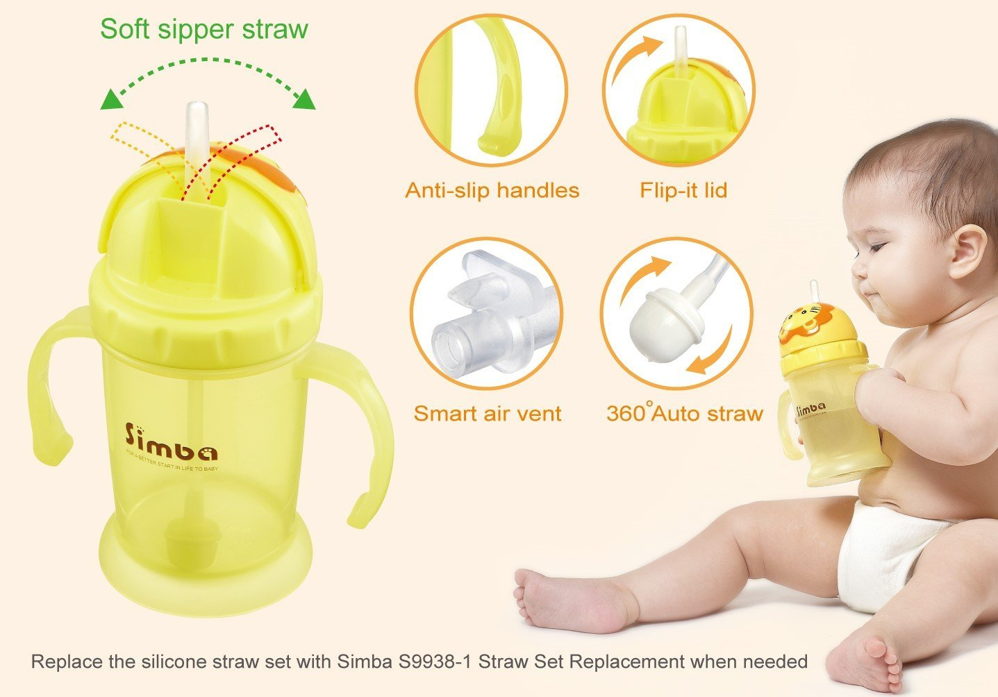 simba training cup replacement straw