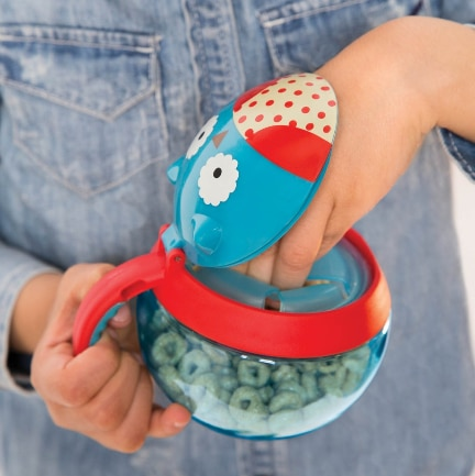 skip hop zoo animal character toddler snack cup holder storage container