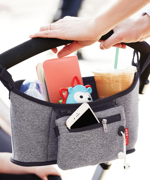 skip hop quick and easy travel grab and go stroller organizer bag with baby 宝宝推车轻松收纳置物袋