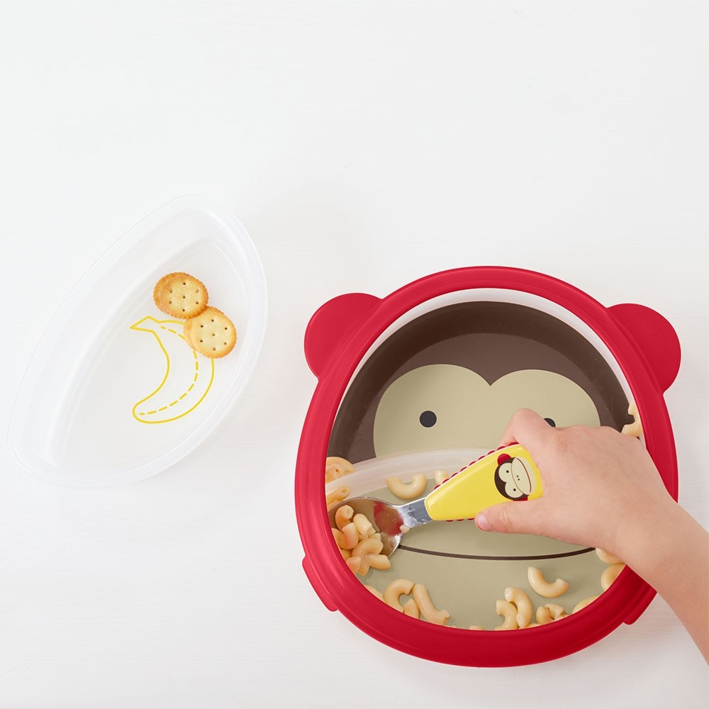 skip hop smart serve eat neat plate and bowl set easy scoop self feeding training